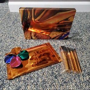 Make up bag and brush set